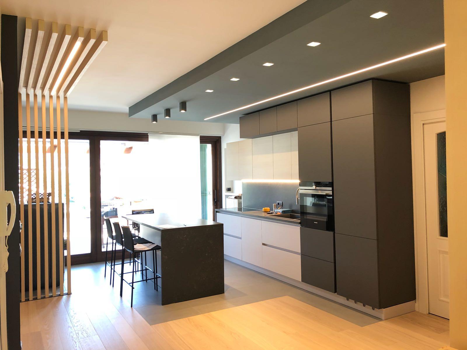 Ristrutturazione zona giorno in una casa privata a quarona for Progetto casa ristrutturazione