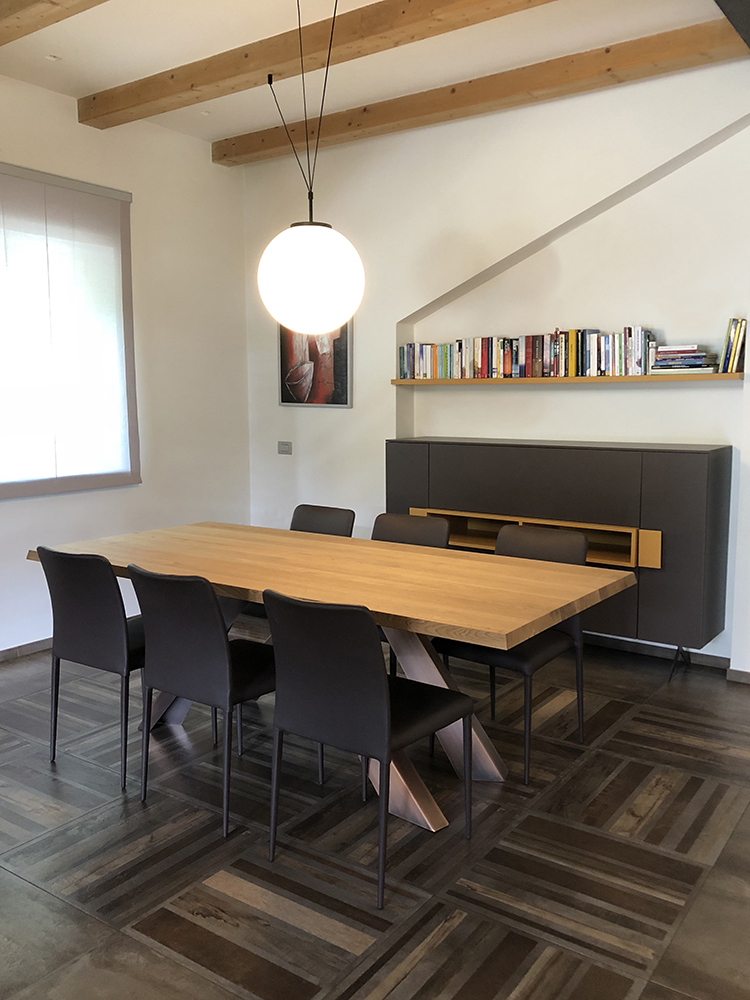 Progettazione interni villa con soppalco for Progettazione interni