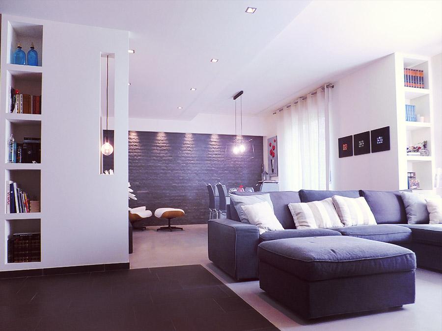 Progettazione interni riprogettazione soggiorno e camera da letto